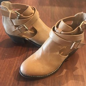 Report Buckle Zip Boot - Taupe